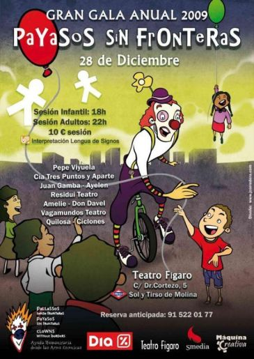 Payasos sin fronteras celebra su gala anual para recaudar for Teatro figaro adolfo marsillach