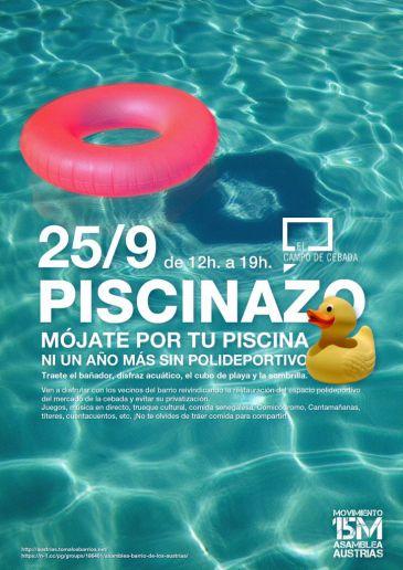 Un 39 piscinazo 39 pide la recuperaci n de la piscina for Piscina municipal mostoles